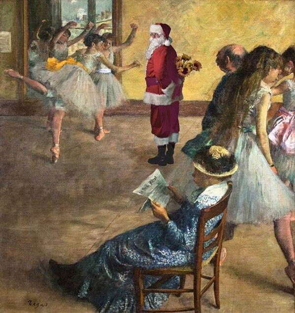 le Père-Noël s'invite dans la peinture classique